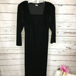 Mimi Maternity Velvet Tie waist Midi Dress Small